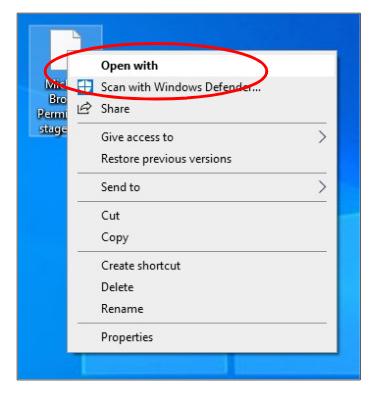 Open With screenshot
