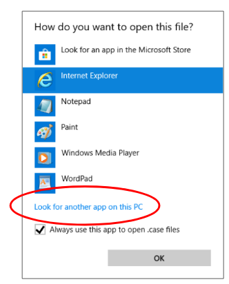look for another app on this PC screenshot